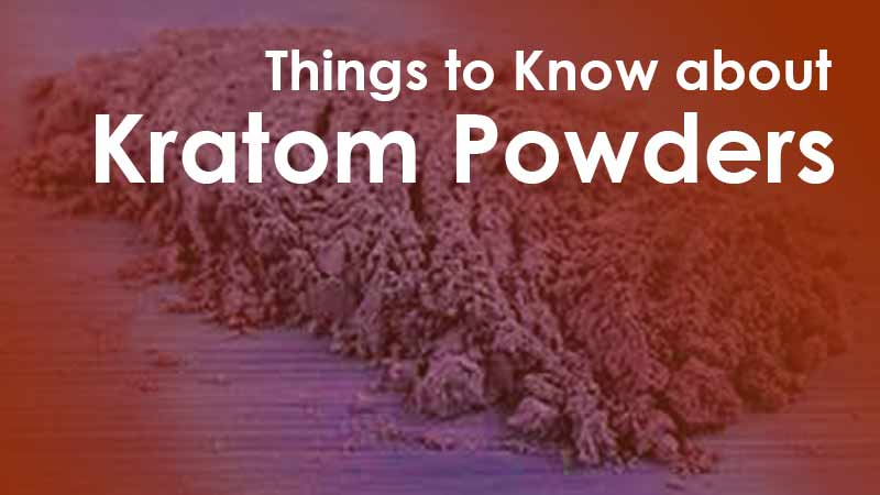 Things to Know about Kratom Powders
